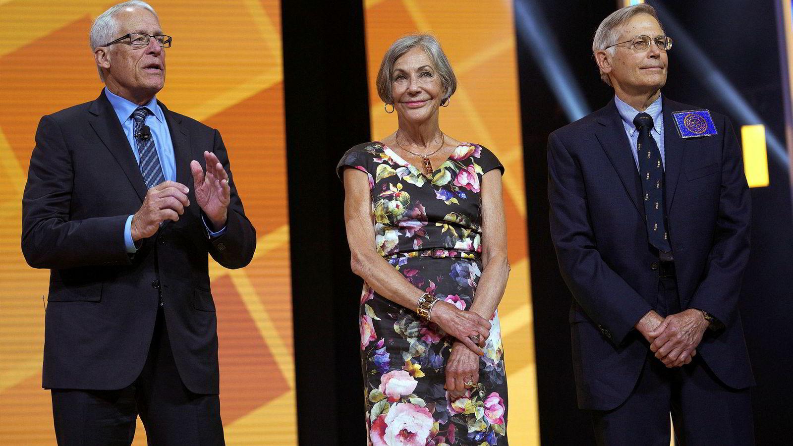 Walton-familien, her representert med fra venstre Rob, Alice og Jim, er verdens mest velstående.