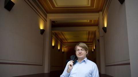 Advokat Karl-Anders Grønland hos SGB Storløkken forsøker å samle långiverne i den konkursrammede kompisbanken  TrustBuddy. Foto: Elin Høyland