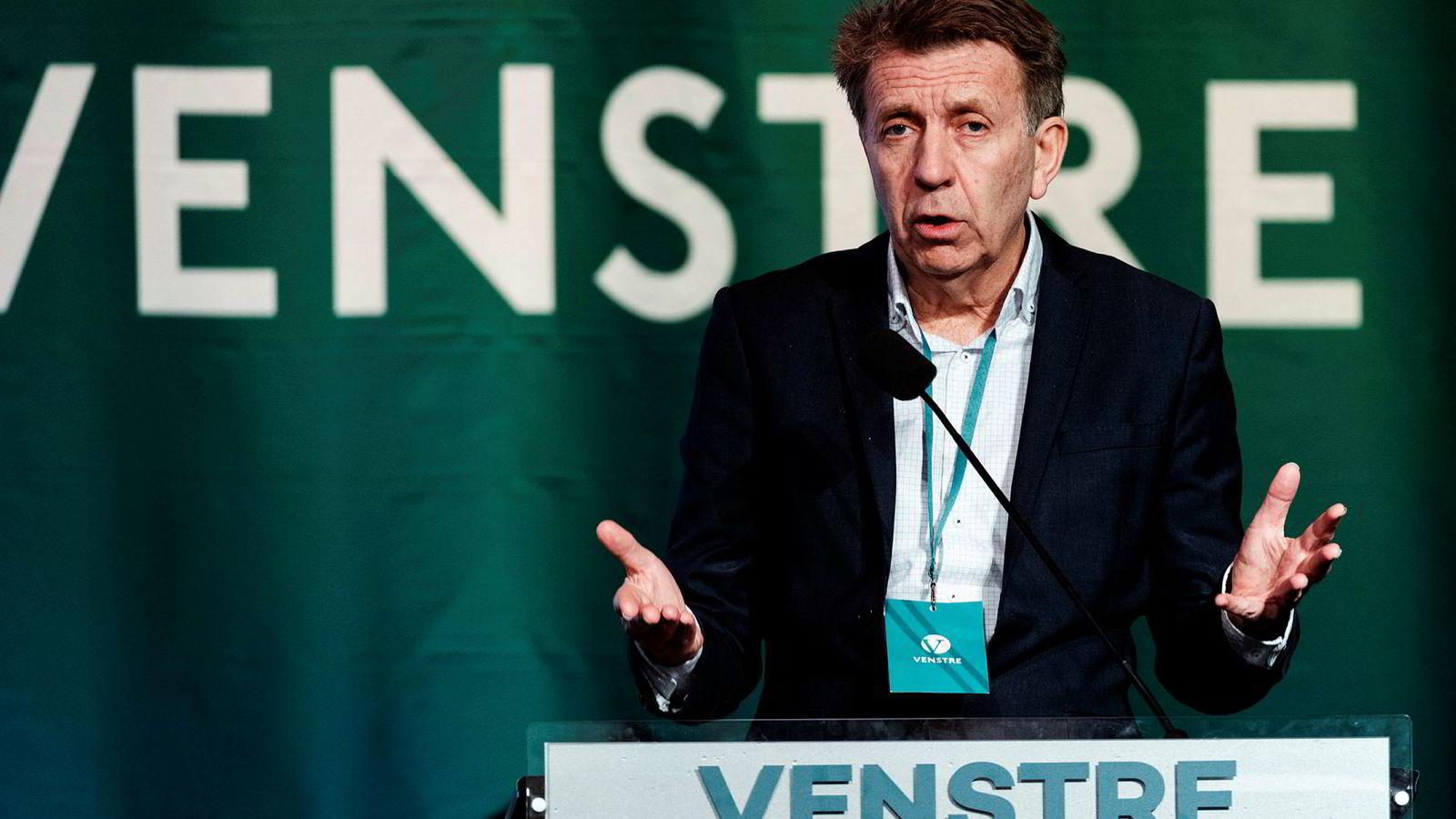 Per A. Thorbjørnsen har oppgaven med å sette sammen Venstres nye ledelse. Her er han på landsmøtet til partiet tidligere i år.