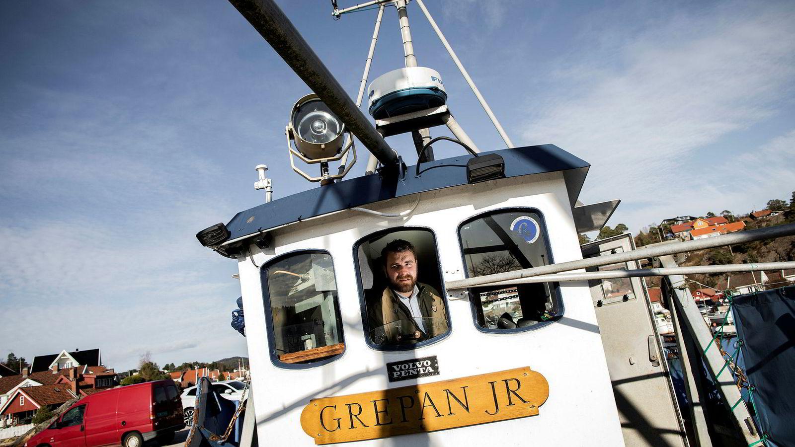 Carl Aamodt styrer skuta hos gasellevinner Aamodt Fiskeri i Søgne i Vest-Agder.