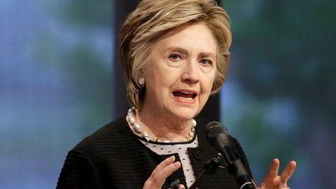 – Julian Assange har blitt en slags nihilistisk opportunist som løper diktatorers ærend, sier Hilary Clinton. Foto: Patrick Semansky, Ap
