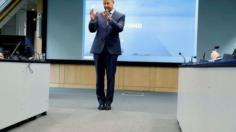 Vi forventer at selskapene håndterer både utfordringer og muligheter knyttet til bærekraftig bruk av havet, sier Oljefonds-sjef Yngve Slyngstad i Norges Bank Investment Management