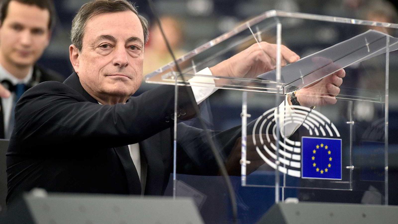 Sentralbanksjef i ECB, Mario Draghi Foto: AFP / PATRICK HERTZOG / NTB Scanpix