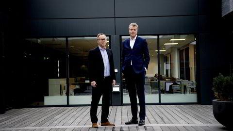 Dagbladet-redaktør John Arne Markussen og Aller-sjef Dag Sørsdahl går til angrep mot dagens mediepolitikk. Foto Mikaela Berg