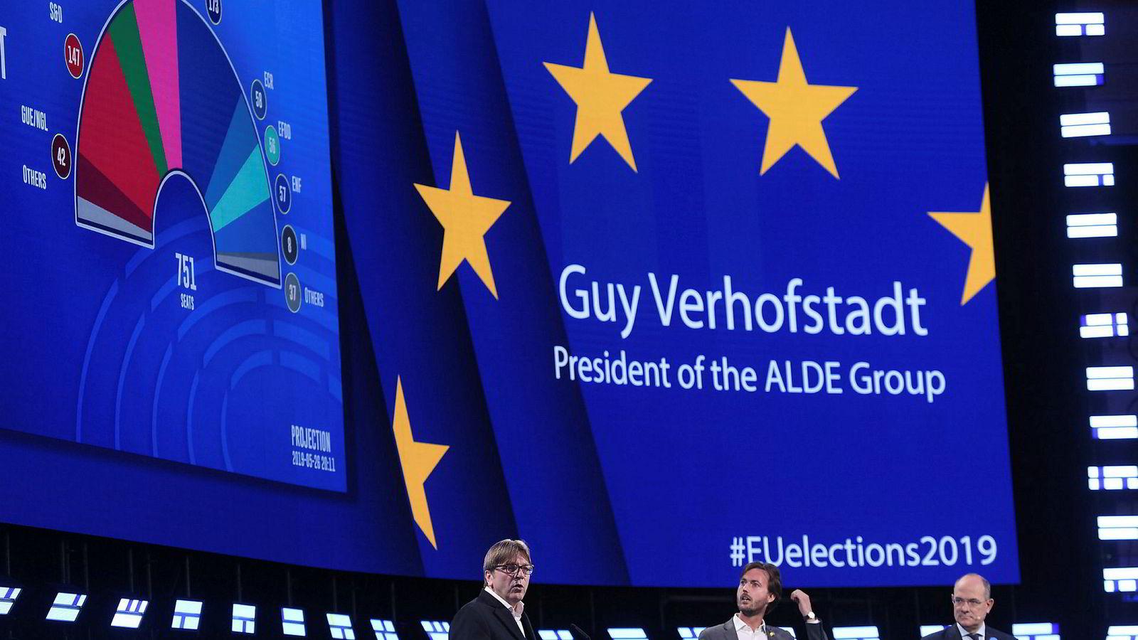 Guy Verhofstadt, tidligere belgisk statsminister og sentral politiker for den liberale Alde-gruppen i Europaparlamentet, sa søndag kveld at EU er vinneren – med en viss rett.