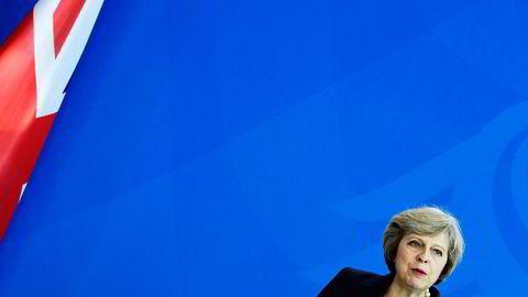 Storbritannias statsminister Theresa May. Foto: Tobias Schwarz/AFP/NTB Scanpix