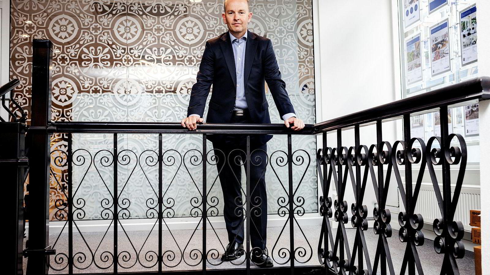Finansdirektør Geir-Egil Bolstad i Sparebank 1 Østlandet vil gjerne selge boliglån, men ikke forbrukslån.