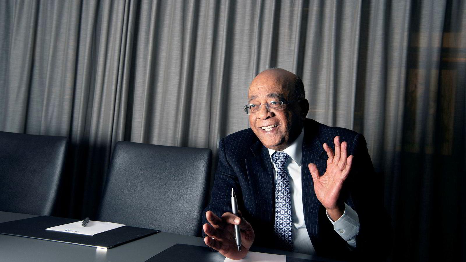 Mo Ibrahim tror Norge og Norden kan gi være gode drivere innen fornybar energi på det afrikanske kontinentet, så lenge tilliten til lederskapet er god nok.