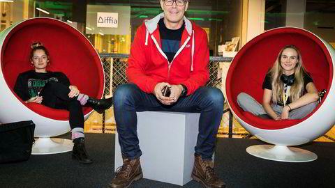 Lise Fulland (fra venstre), Tor Bækkelund og Lauga Oskarsdottir i Startuplab jobber nå med Founders Fund II, som er litt over dobbelt så stort som det første. De har ennå mange mulige vinnere igjen i det første fondet. Foto: Per Thrana