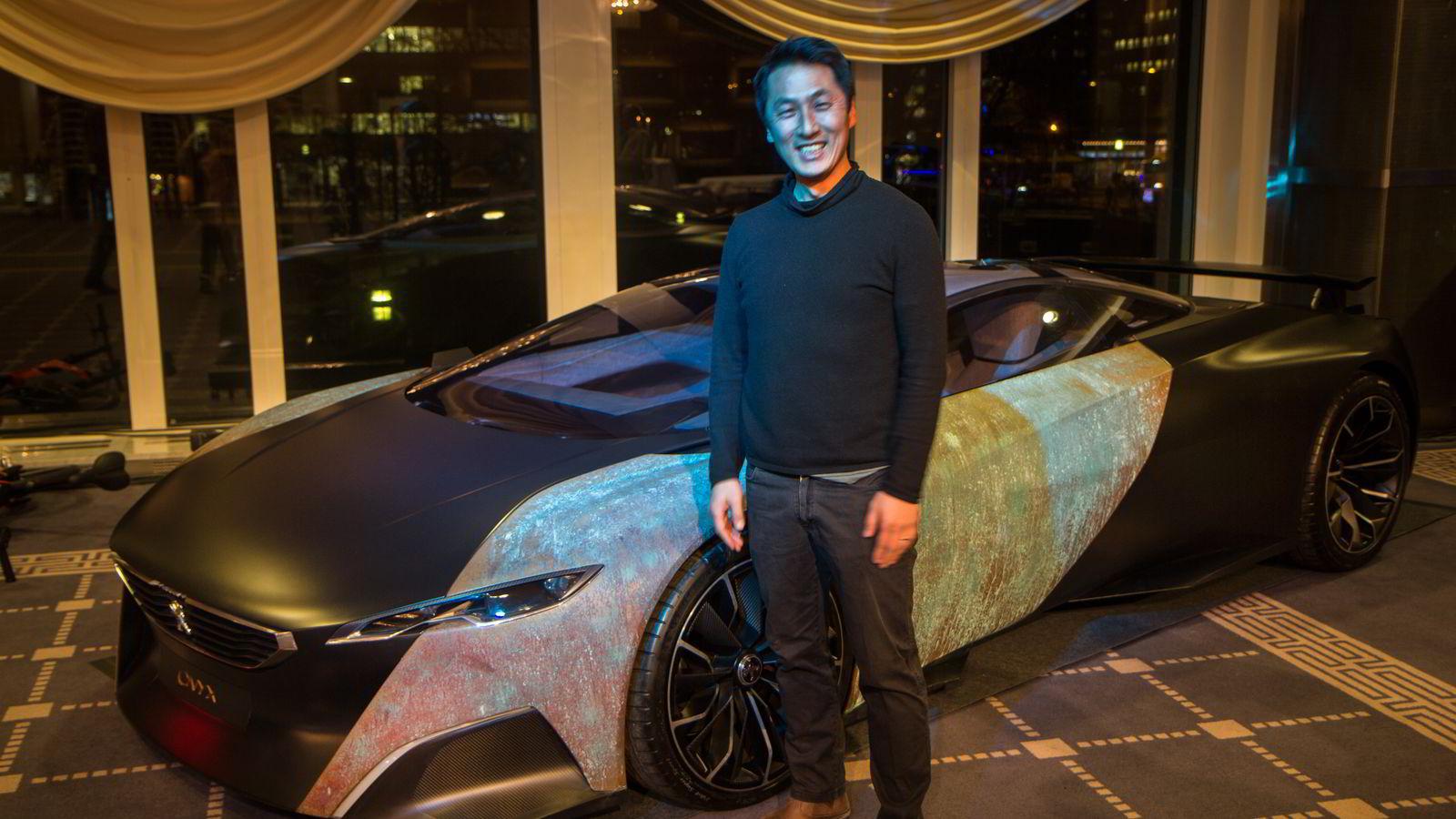 Konseptbilen Onyx som Per Ivar Selvaag designet da han jobbet for Peugeot er hentet til Oslo for å peppe opp salgsapparatet.
