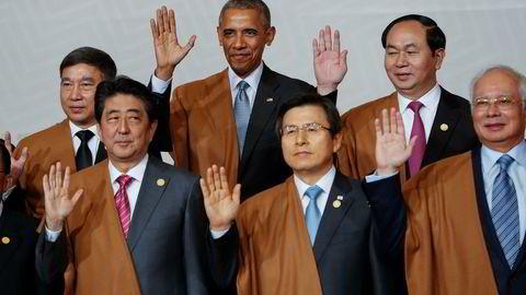 USAs president Barack Obama og andre statsledere fra Stillehavsregionen under årets APEC-møte i Peru, som ble avsluttet på søndag.