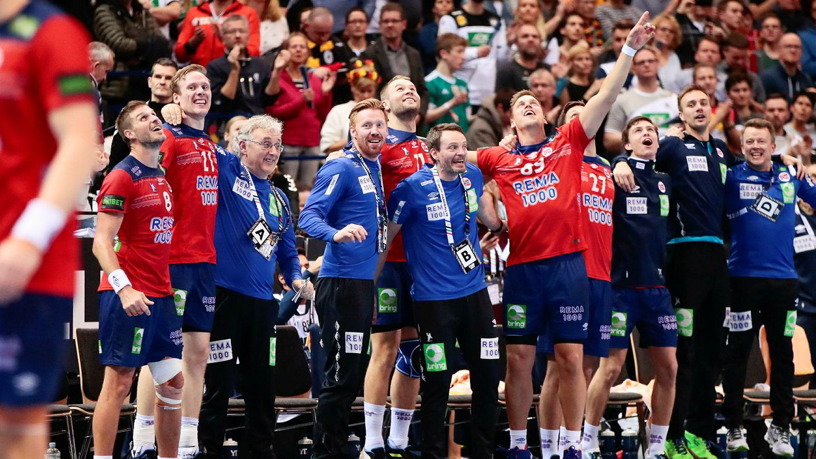 Norges landslag i håndball hadde mye å juble for etter seieren i semifinalen mot Tyskland fredag kveld. I finalen mot Danmark ble det derimot tøft.