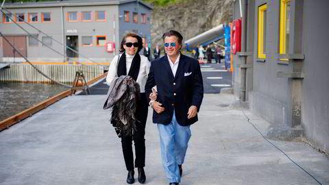 Peter M. Anker og Helene Jebsen Anker eier Langebru sammen. I våres solgte de en tredjedel av Clarksons-aksjene selskapet fikk som oppgjør for posten det eide i RS Platou. Foto: Thomas Haugersveen