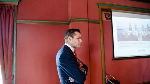 FRUSTRERT. Finansdirektør Rune Magnus Lundetræ i Seadrill synes det er frustrerende at sanksjoner kan ødelegge for selskapets Russland-kontrakt. Foto: Fartein Rudjord