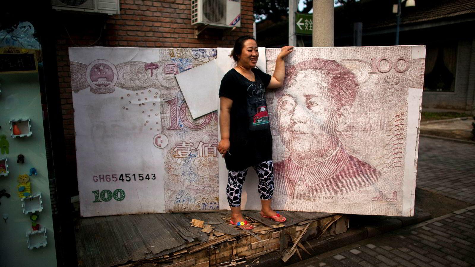I april i år vil obligasjoner utstedt av den kinesiske stat i den kinesiske valutaen renminbi for første gang bli inkludert i obligasjonsindeksen Bloomberg Barclays Global Aggregate.