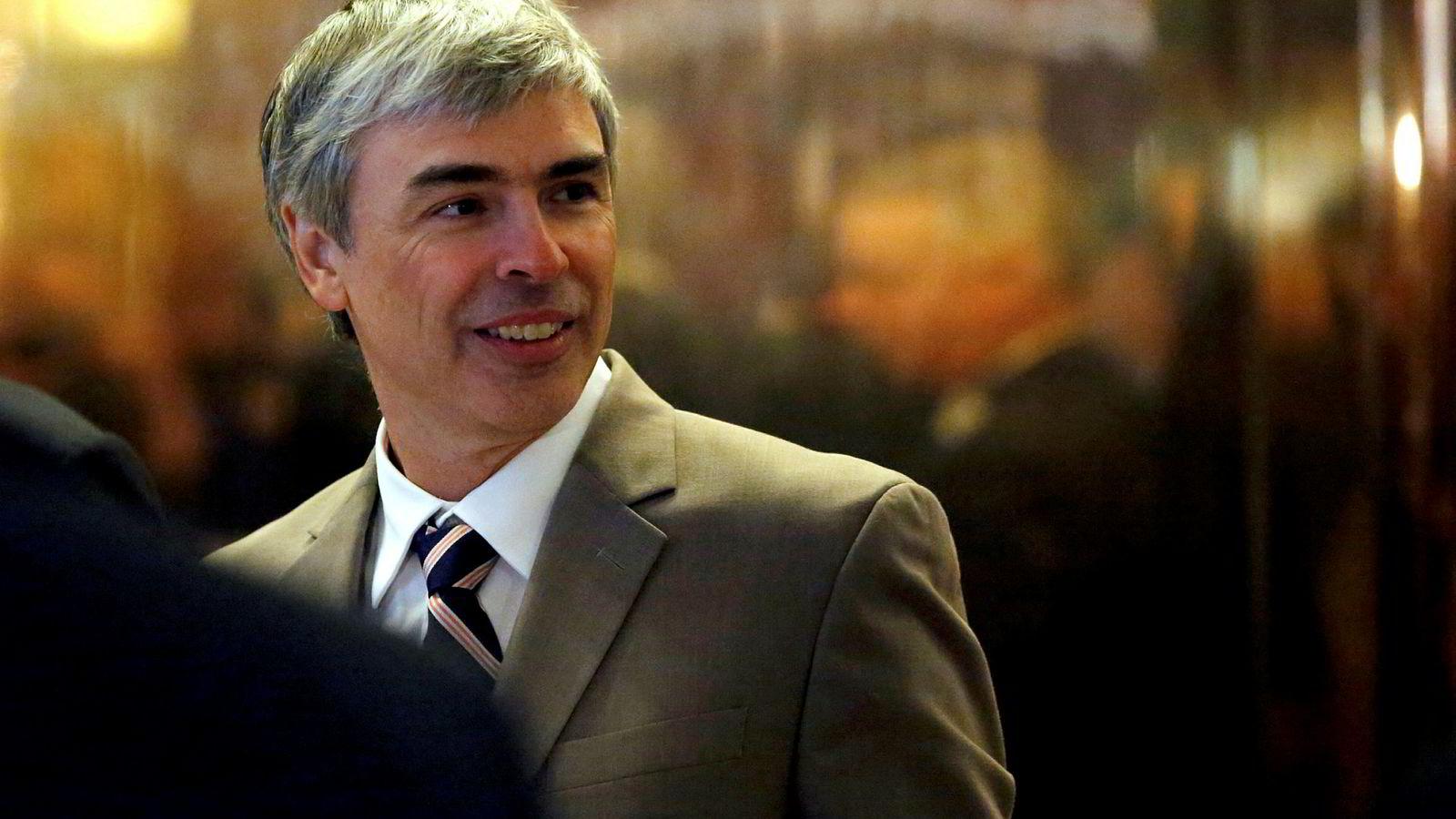 Konsernsjef i Alphabet og Google-grunnlegger Larry Page.
