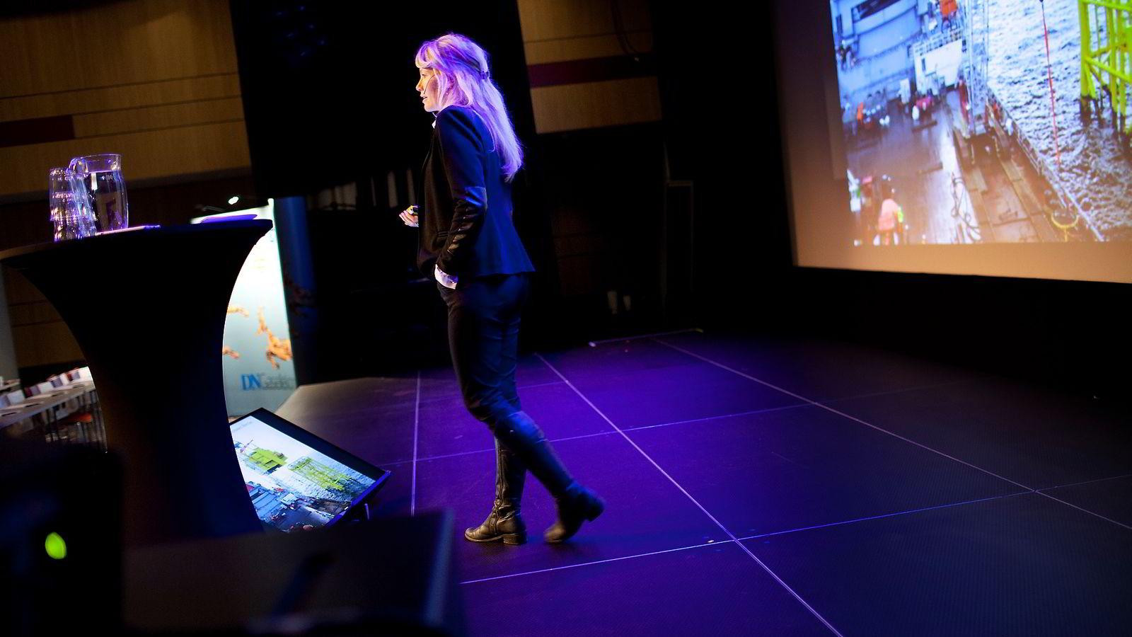 Værgründer Siri Kalvig på Gasellekonferansen i Stavanger.