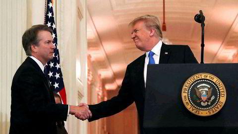 Donald Trump har i det siste fortalt om sin medfølelse for Brett Kavanaugh, som han har nominert til høyesterett, og som anklages for voldtektsforsøk.