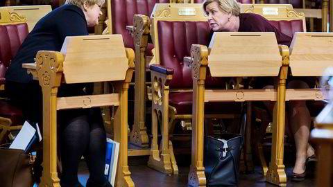 Trine Skei Grande satte pris på at finansminister Siv Jensen tok oljeaksjer ut av Oljefondet.