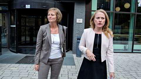 Petroleumstilsynets direktør Anne Myhrvolds (til venstre) åremål går ut denne våren. Arbeids- og sosialminister Anniken Hauglie (til høyre) bør ikke gi henne fornyet tillit, mener Safe-tillitsvalgte i Equinor.