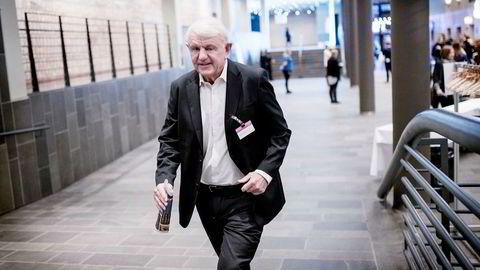 Egil Stenshagen og hans familie er blant de største private aksjonærene i Norwegian. Etter kraftig kursoppgang har de lånt ut store aksjesummer til shorting i aksjen. Her er Stenshagen på NHOs årskonferanse i 2015. Foto: