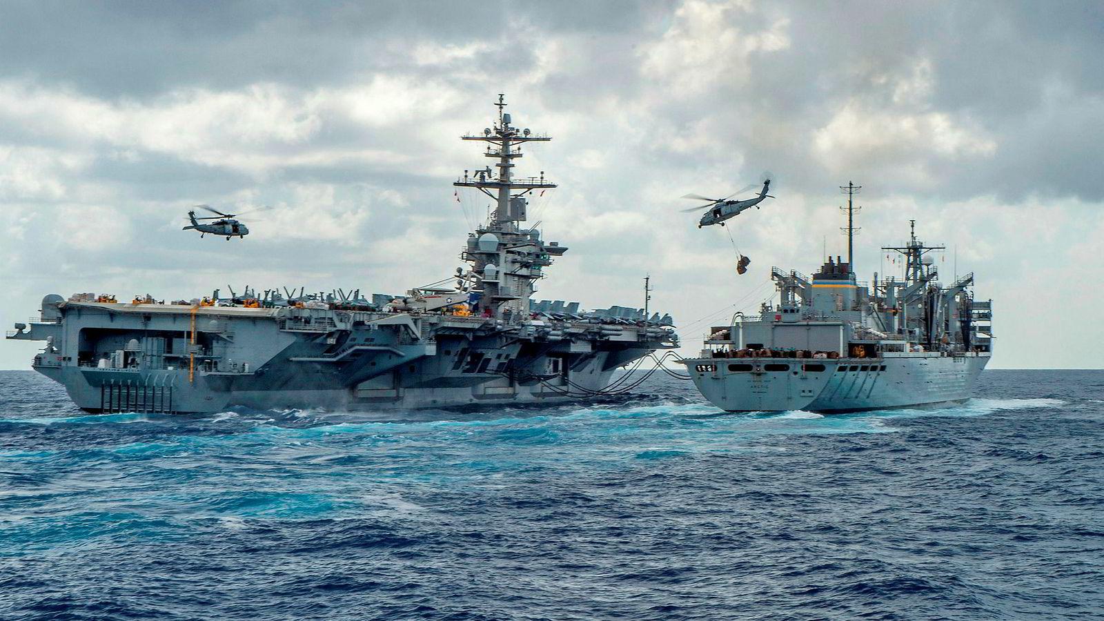 Fire tiår med konflikt mellom Iran og USA er i ferd med å bygge seg opp til det mange frykter kan ende med krig. USA sendte tidligere denne måneden hangarskipet USS «Abraham Lincoln» til Persiabukten etter å ha mottatt det amerikanske myndigheter sier er trusler fra Iran.