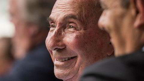 Serge Dassault, styreleder og administrerende direktør i den franske Dassault-gruppen, i et foto fra 2014. Dassault døde mandag, 93 år gammel. Foto: AP/ NTB Scanpix