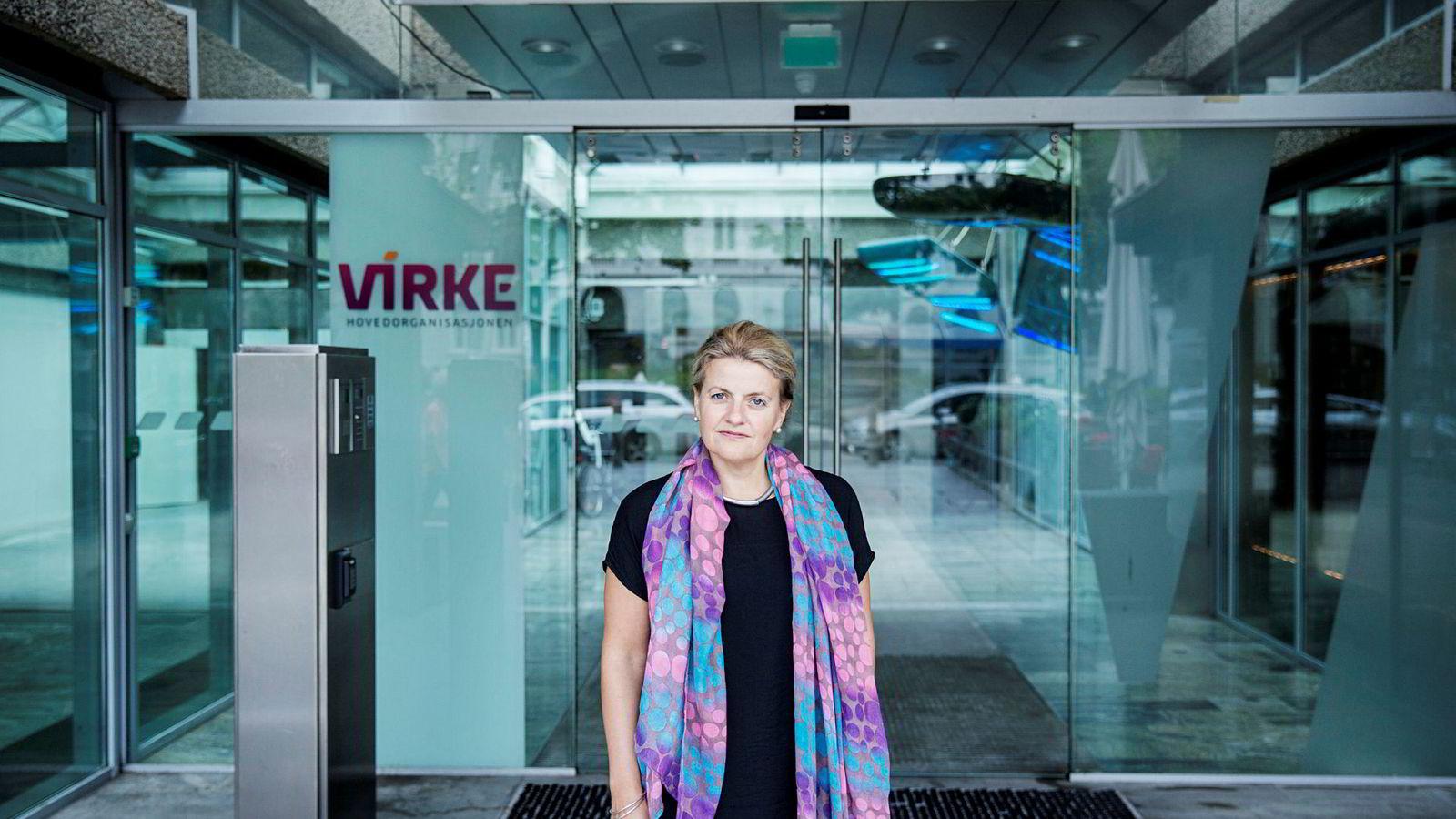 Skralt og skadelig Høyre-forslag om pensjonsalder. Det mener Inger Lise Blyverket, direktør for forhandlinger og arbeidslivspolitikk i Virke.