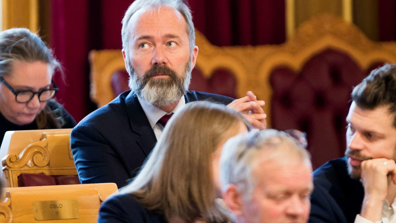 Trond Giske (Ap) under trontaledebatten i Stortinget denne uka.
