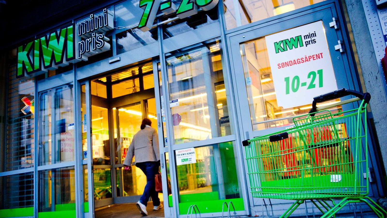 Arkivbilde. En søndagsåpen Kiwi-butikk på Lillestrøm. Foto: Jon Olav Nesvold /