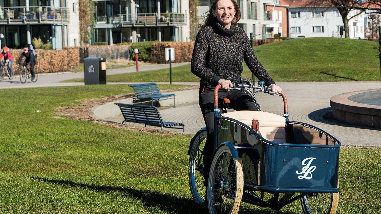 Laila Nyborg er «en av driverne» bak Sykkelpikene as, som har opplevd enorm vekst i el-sykkelsalget.