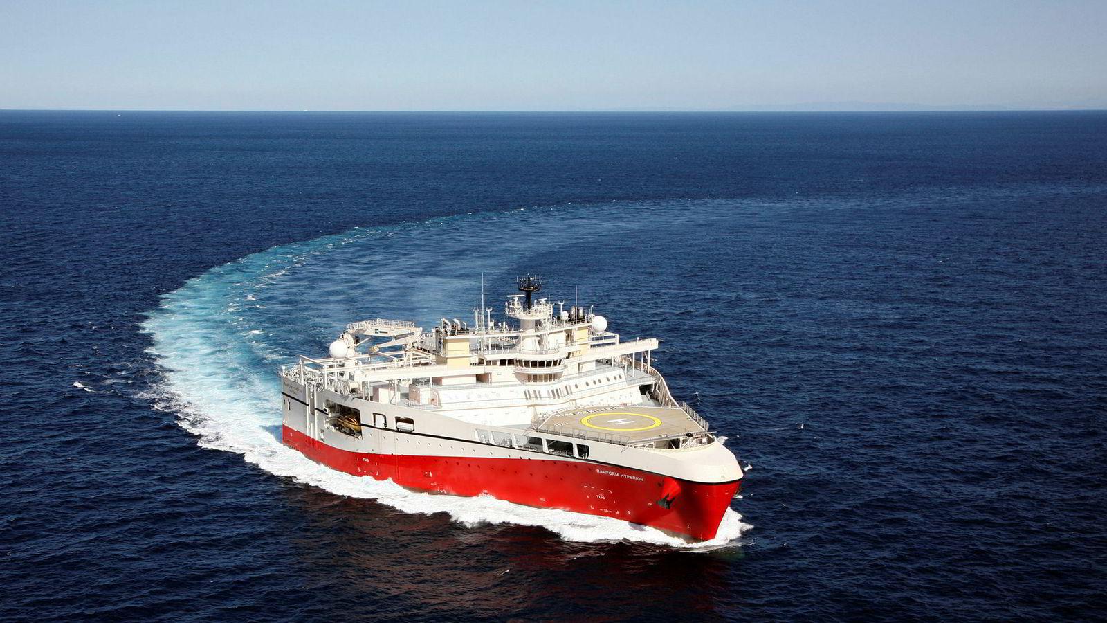 PGS estimerer en samlet omsetning på rundt 235 millioner kroner i tredje kvartal. Her er selskapets skip Ramform Hyperion.