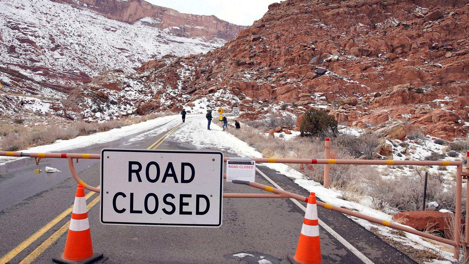 Flere nasjonalparker er stengt på grunn av det delvis stengte statsapparatet i USA. Bildet viser nasjonalparken Arches i Utah.