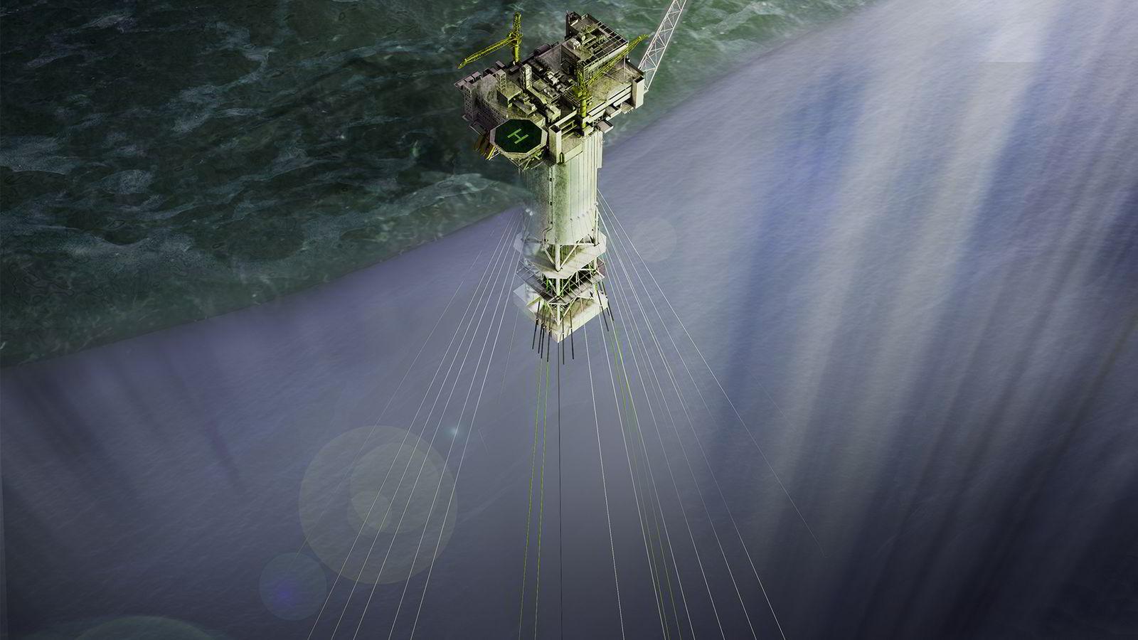 Illustrasjon av Aasta Hansteen-feltet i Norskehavet. Grafikk: Statoil asa