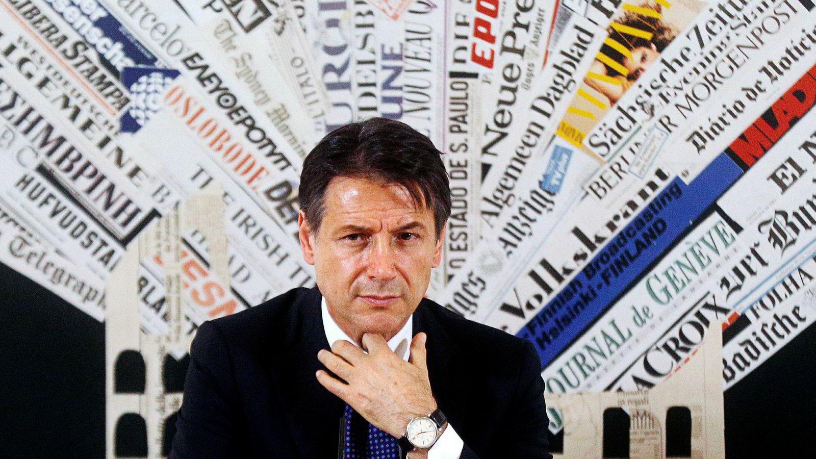 Italias statsminister Giuseppe Conte.