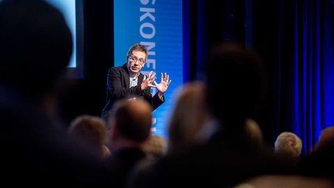 Ian Bremmer, politisk risikoanalytiker, leder av Eurasia Group og professor ved New York University, på  Skagenkonferansen 2016. Foto: Gorm K. Gaare