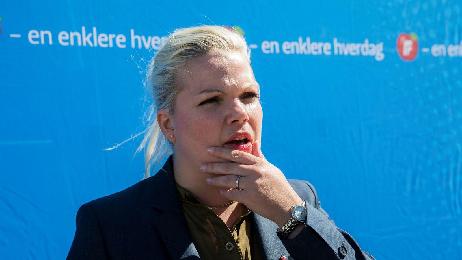 Silje Hjemdal, her fra valgkampen i fjor, er skeptisk til den norske holdningen overfor Tanzania.