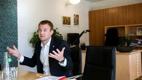 Barne- og familieminister Kjell Ingolf Ropstad snakker om KrFs politikk i forbindelse med det kommende landsmøtet.