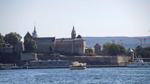 Akershus festning sett fra sjøen i Oslo.