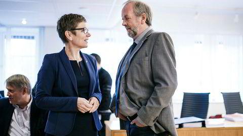Legeforeningens Marit Hermansen og Rune Frøyland i Akademikerne Helse har denne uken kjempet i Arbeidsretten for legenes arbeidstid.