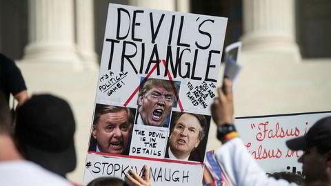Mange har protestert utenfor USAs høyesetrett de siste dagene.