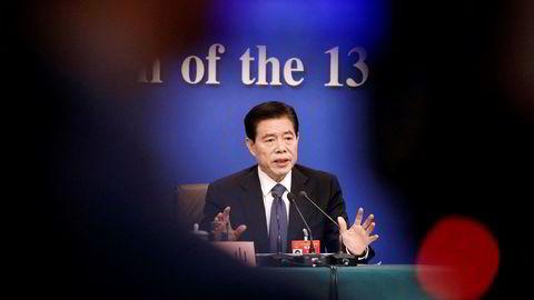 Den kinesiske handelsministeren Zhong Shan er satt inn i det nye forhandlingsteamet. Han kan komme til å gjøre forhandlingsklimaet langt tøffere.