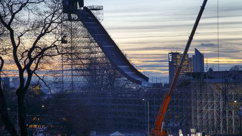 I Tøyenparken i Oslo begynner det å bli klart til X Games. Foto: Heiko Junge /