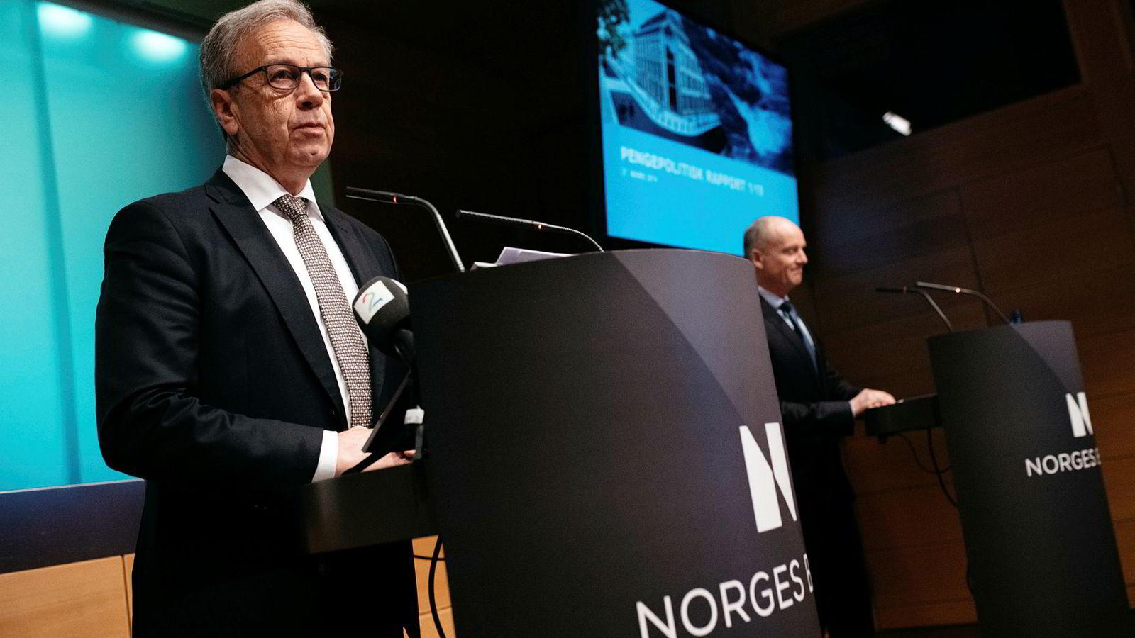 Sentralbanksjef Øystein Olsen har hatt mye å bekymre seg for de siste årene.