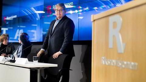 Riksrevisjonen, her ved riksrevisor Per-Kristian Foss, er ikke imponert.