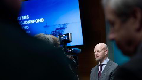 Siden 1999 har Oljefondet, her ved toppsjef Yngve Slyngstad, hatt en netto meravkastning i aksjeporteføljen på 0,38 prosentpoeng i året. Foto: Elin Høyland
