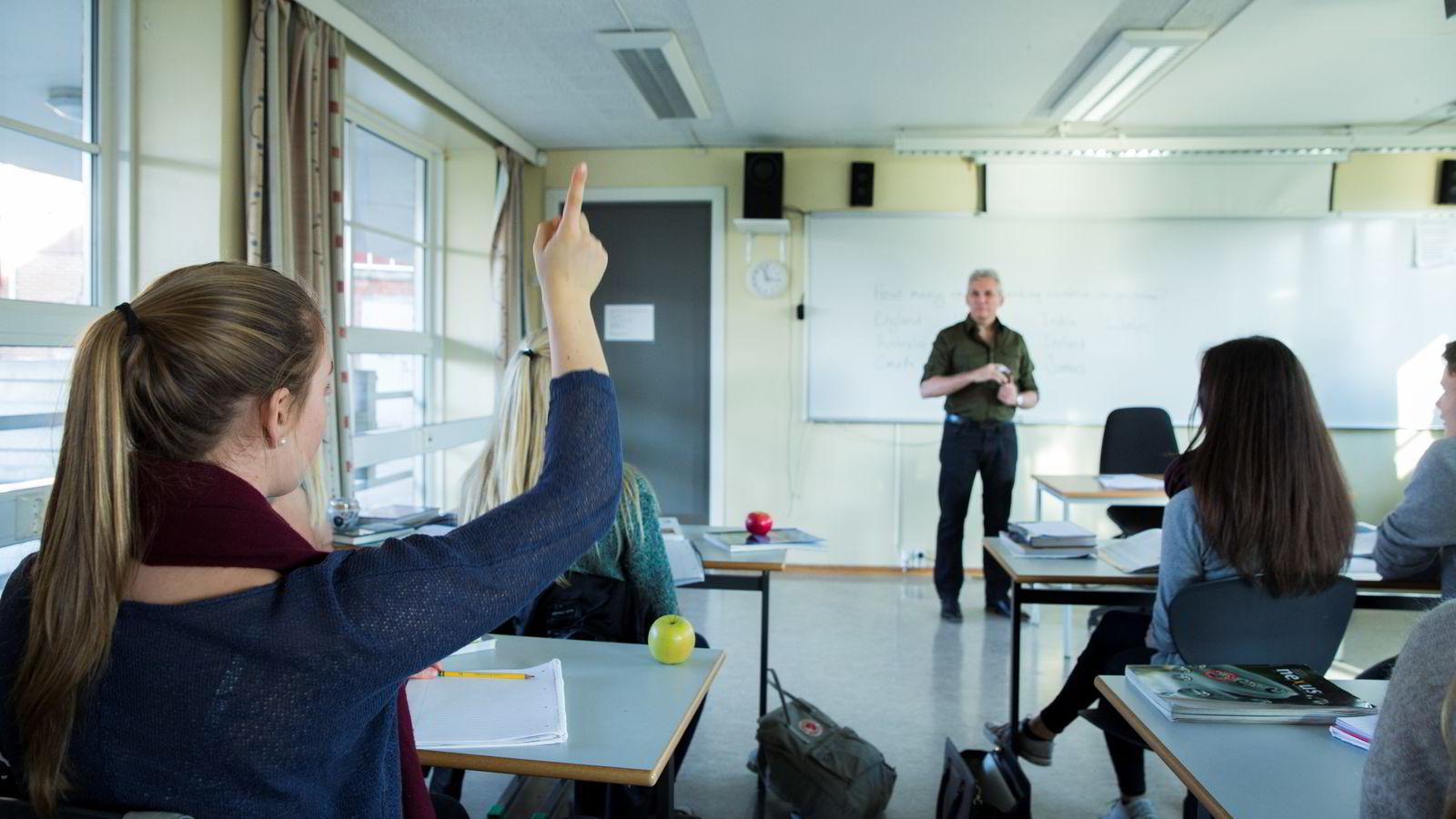 NASJONALE PRØVER. Oslo og Akershus er fylkene som presterer best, viser resultatene av de nasjonale prøvene som ble utført i oktober. Illustrasjonsbilde. Foto: Foto: Berit Roald /