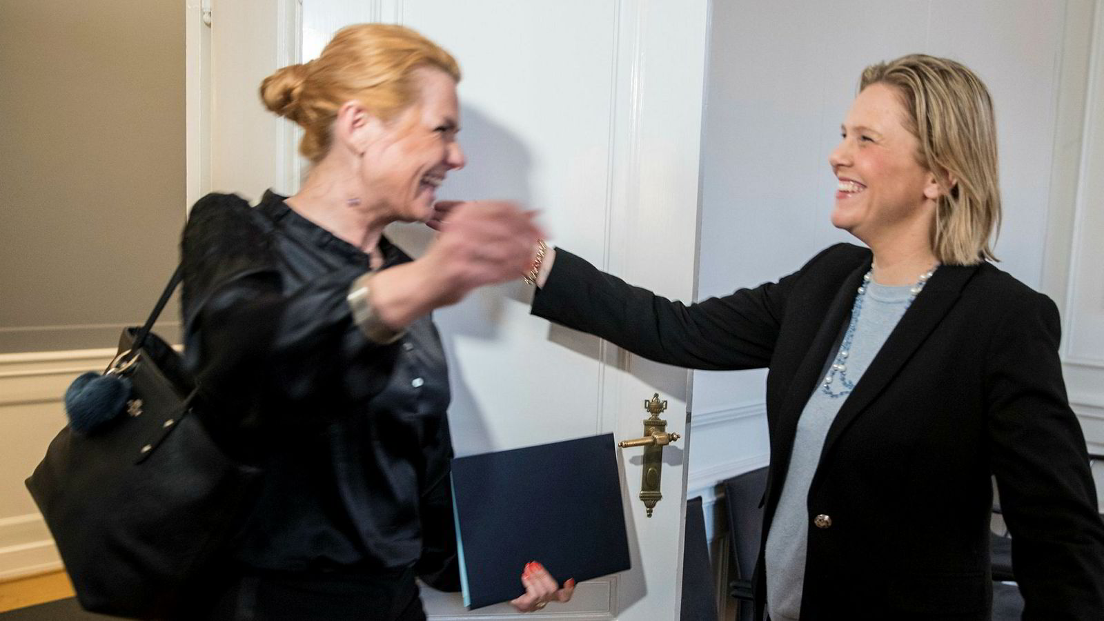 Det ble et hjertelig møte mellom Danmarks innvandringsminister Inger Støjberg og Sylvi Listhaug  i København.