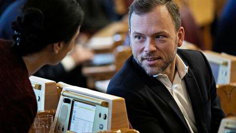 Rystet. SV-leder Audun Lysbakken.