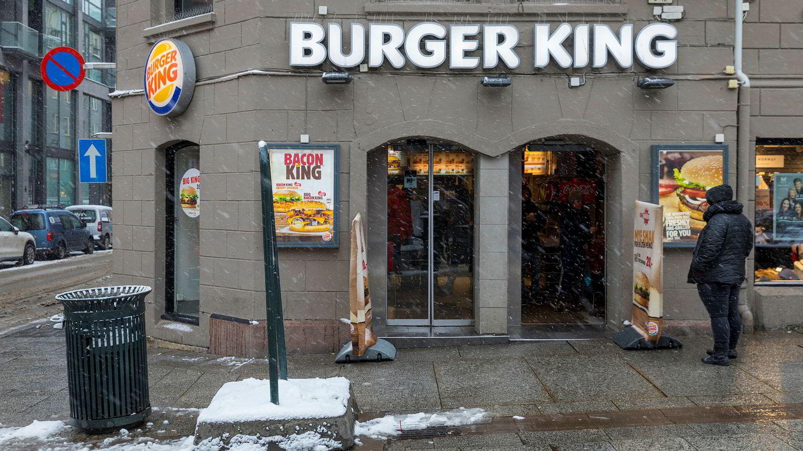 Burger King er nå større enn McDonalds i Norge.